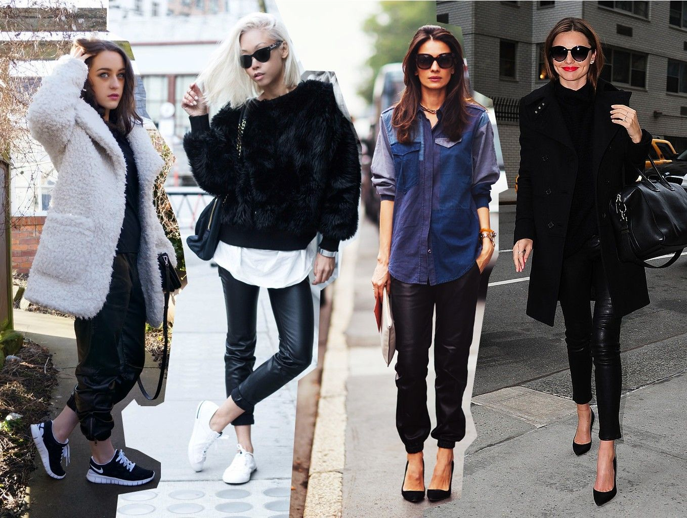 15 Celebs Who Absolutely Love Leather Joggers Thetalko