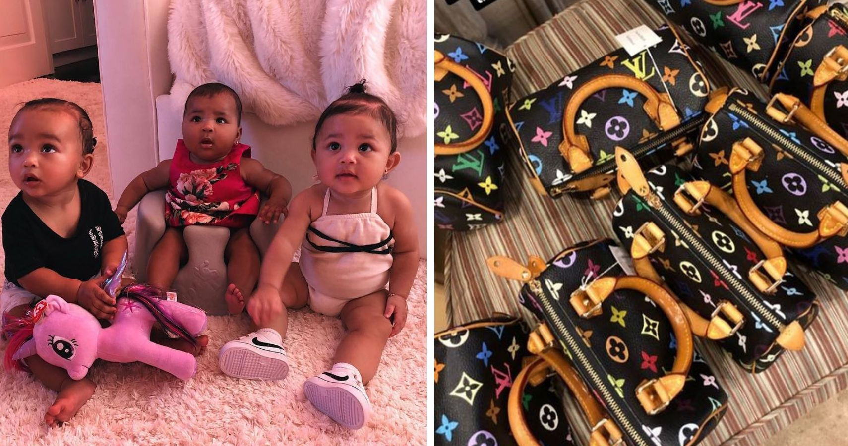 36477c2525fb Kim Buys Louis Vuitton Bags For All The KarJenner Babies